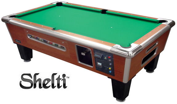 Shelti Coin Operated Pool Tables CALL TOLL FREE - Electronic pool table